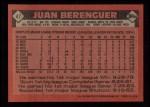 1986 Topps #47   Juan Berenguer Back Thumbnail