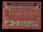 1986 Topps #56  Tom Niedenfuer  Back Thumbnail