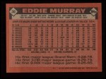 1986 Topps #30  Eddie Murray  Back Thumbnail