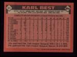 1986 Topps #61  Karl Best  Back Thumbnail