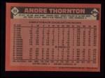 1986 Topps #59  Andre Thornton  Back Thumbnail