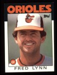 1986 Topps #55   Fred Lynn Front Thumbnail