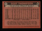 1986 Topps #93   Scot Thompson Back Thumbnail