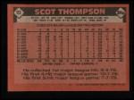 1986 Topps #93   Scot Thompson Back Thumbnail
