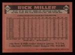 1986 Topps #424   Rick Miller Back Thumbnail