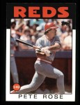 1986 Topps #1  Pete Rose  Front Thumbnail