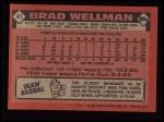 1986 Topps #41   Brad Wellman Back Thumbnail