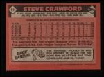 1986 Topps #91  Steve Crawford  Back Thumbnail