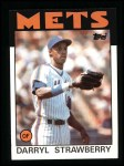 1986 Topps #80   Darryl Strawberry Front Thumbnail