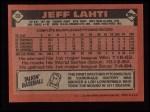 1986 Topps #33  Jeff Lahti  Back Thumbnail