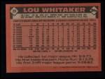 1986 Topps #20   Lou Whitaker Back Thumbnail