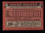 1986 Topps #22   Duane Walker Back Thumbnail