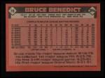 1986 Topps #78  Bruce Benedict  Back Thumbnail