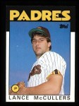 1986 Topps #44  Lance McCullers  Front Thumbnail