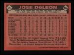 1986 Topps #75   Jose DeLeon Back Thumbnail