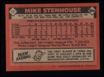 1986 Topps #17   Mike Stenhouse Back Thumbnail