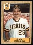 1987 Topps #365   Rick Rhoden Front Thumbnail