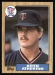 1987 Topps #52   Keith Atherton Front Thumbnail