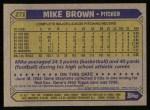 1987 Topps #271  Mike G. Brown  Back Thumbnail