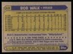 1987 Topps #628  Bob Walk  Back Thumbnail