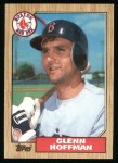 1987 Topps #374   Glenn Hoffman Front Thumbnail