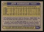 1987 Topps #389   Jeff D. Robinson Back Thumbnail