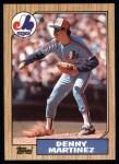 1987 Topps #252  Dennis Martinez  Front Thumbnail