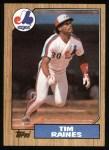 1987 Topps #30   Tim Raines Front Thumbnail