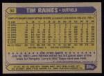 1987 Topps #30   Tim Raines Back Thumbnail