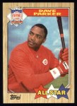 1987 Topps #600  All-Star  -  Dave Parker Front Thumbnail