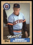 1987 Topps #218  Sparky Anderson  Front Thumbnail
