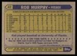 1987 Topps #82   Rob Murphy Back Thumbnail