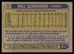 1987 Topps #98   Bill Scherrer Back Thumbnail
