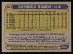 1987 Topps #641  Domingo Ramos  Back Thumbnail