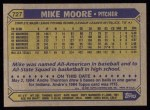 1987 Topps #727   Mike Moore Back Thumbnail