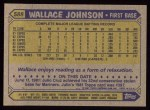 1987 Topps #588  Wallace Johnson  Back Thumbnail