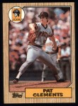 1987 Topps #16   Pat Clements Front Thumbnail