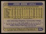 1987 Topps #123  John Kruk  Back Thumbnail