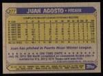 1987 Topps #277   Juan Agosto Back Thumbnail