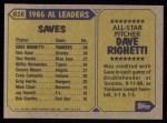 1987 Topps #616  All-Star  -  Dave Righetti Back Thumbnail