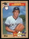 1987 Topps #616  All-Star  -  Dave Righetti Front Thumbnail
