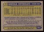 1987 Topps #91  Harold Reynolds  Back Thumbnail