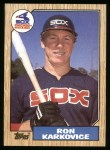 1987 Topps #491  Ron Karkovice  Front Thumbnail