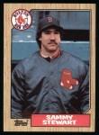 1987 Topps #204  Sammy Stewart  Front Thumbnail