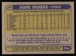 1987 Topps #283   Doug Drabek Back Thumbnail