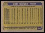 1987 Topps #257   Bob Forsch Back Thumbnail