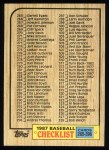 1987 Topps #392  Checklist 265 - 396  Front Thumbnail