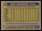 1987 Topps #497   Dale Mohorcic Back Thumbnail