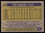 1987 Topps #396   Tim Lollar Back Thumbnail