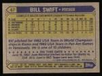 1987 Topps #67  Bill Swift  Back Thumbnail